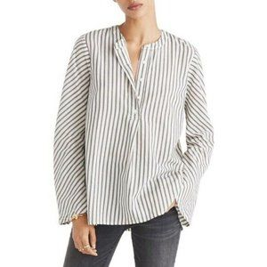 Madewell Brighton Popover Striped Blouse Career